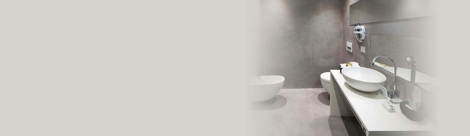 Sanacija kopalnice s smolo in cemenetom